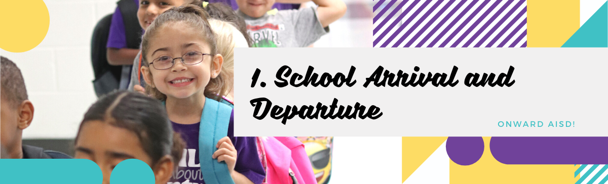 School Arrival and Departure Graphic